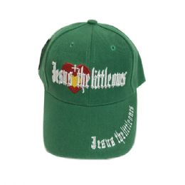 60 Bulk Jesus The Little Ones Kids Baseball Caps Hats Embroidered In Assorted Color
