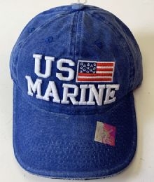60 Bulk Denim Hat Us Marine Baseball Caps Hats Embroidered In Assorted Color