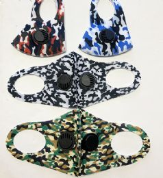 36 Bulk Camo Mask With Double Filter