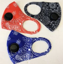 48 Bulk Face Mask With Filter Fashion Design