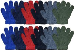 12 Bulk Yacht & Smith Kids Winter Gloves & Mittens In Bulk, Kids Age 3-8