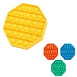 24 Bulk Push Pop Fidget Toy [solid Octagon]