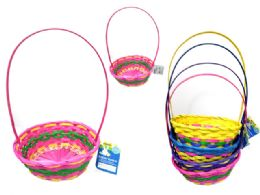 36 Bulk Easter Basket Oval Woven