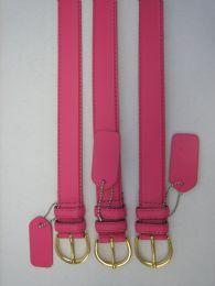 96 Bulk Skinny Pink Belt Thin Waist Jeans Belt For Pants In Pin Buckle Belt