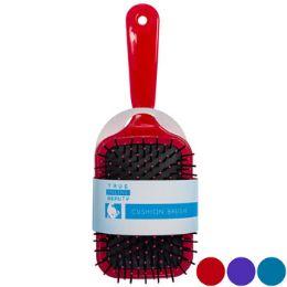 24 Bulk Hair Brush Assorted Paddle Cushioned