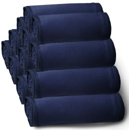 60 Bulk Yacht & Smith 50x60 Fleece Blanket, Soft Warm Compact Travel Blanket, Navy Blue