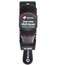 48 Bulk Boar Bristle Wood Club Brush Bioswiss