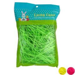 24 Bulk Easter Grass 1oz 3asst Neon Clrs Easter Pb/white Case Cut Carton
