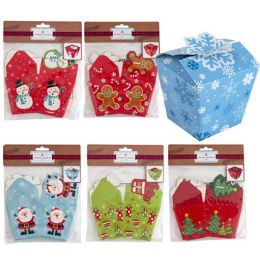 36 Bulk Treat Box 6pk Christmas 3x3in Paper 6ast Designs/xmas Pbh