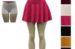 48 Bulk Women Tennis Skirts Inner Shorts Elastic