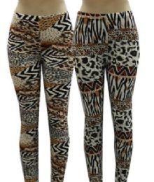 48 Bulk Women High Waist Leggings Leopard Print