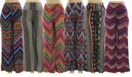36 Bulk Women High Waist Printed Palazzo Pants