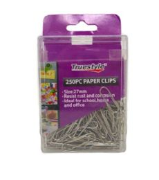 96 Bulk 250 Piece Paper Clip In Plastic Case