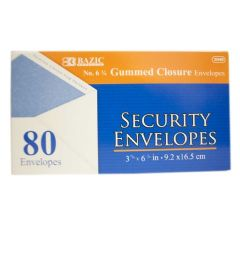 72 Bulk Bazic 80 Piece Security Envelope Gum