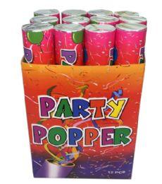 72 Bulk 12 In 1 Party Popper 30 CM Display
