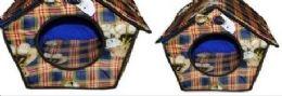 2 Bulk 3 Piece Pet House Assorted Colors