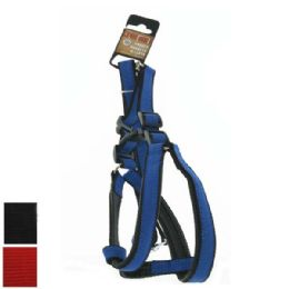 24 Bulk Dog Harness And Leash Set Small Assorted Colors
