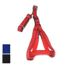 24 Bulk Dog Harness And Leash Medium In Assorted Colors