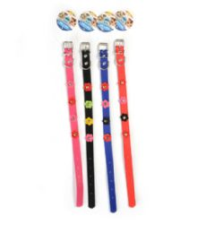72 Bulk Dog Collar Solid 17.75 Inch Assorted Color