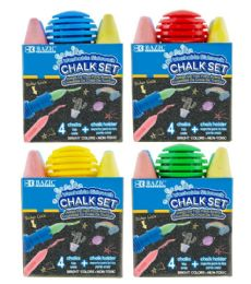 24 Bulk Sidewalk Chalk 4CT With Chalk Holder