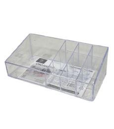72 Bulk Plastic Clear Organizer Rectangle 10 Section