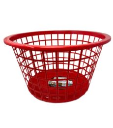 96 Bulk Plastic Laundry Basket Assorted Color