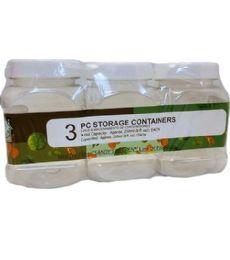 72 Bulk 3 Piece Plastic Storage Container