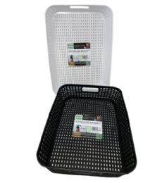 72 Bulk Plastic Basket Rectangle Shallow