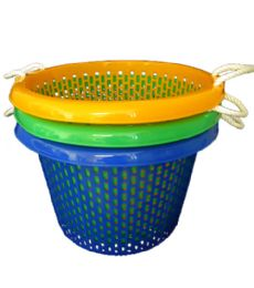 10 Bulk 21x14 Inch Round Basket With Rope Handle