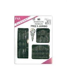 120 Bulk Needle 60 Count Assorted With 5 Piece Jumbo