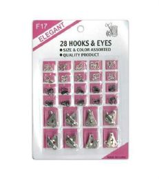 72 Bulk Hook And Eye 28 Count Assorted
