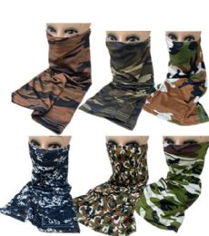 60 Bulk Sun Half Face Mask Camo Assorted Colors