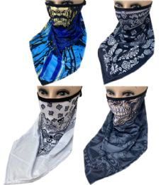 60 Bulk Sun Half Face Mask Scarf In Assorted Color