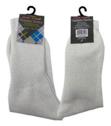 120 Bulk 1 Pair Diabetic Sock In White Size 10-13