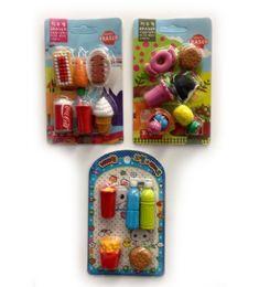 120 Bulk Mini Eraser Food Style