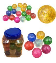 12 Bulk 24 Piece Glitter Bouncing Ball