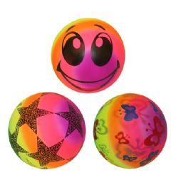 120 Bulk 9 Inch PVC Ball Rainbow