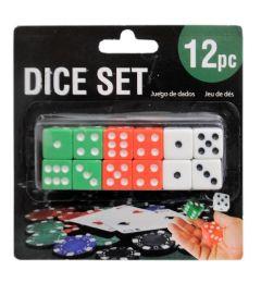 144 Bulk 12 Piece Dice Set