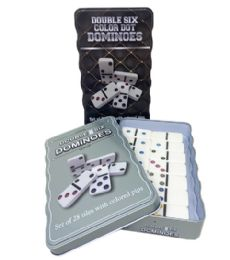 30 Bulk Dominos Double Six Color Dot