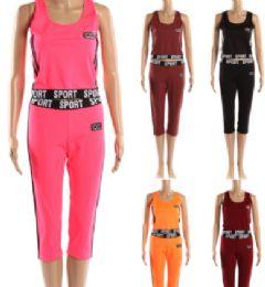72 Bulk Womens 2 Piece Sport Active Wear