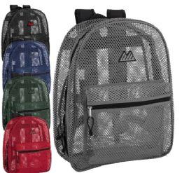 24 Bulk Premium Quality Mesh 17 Inch Backpack