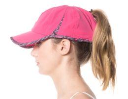 12 Bulk PONYTAIL YOGA ZIPPER CAP
