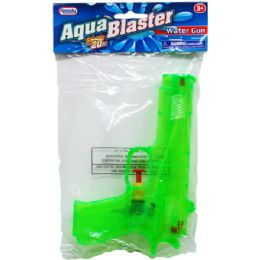 "48 Bulk 7.25"" Water Gun In Poly Bag W/ Header, 3 Assrt Clrs"