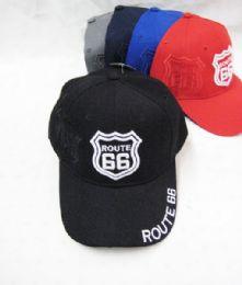 "36 Bulk Route 66"" Base Ball Cap"