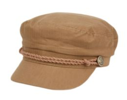 12 Bulk COTTON GREEK FISHERMAN HATS IN BROWN