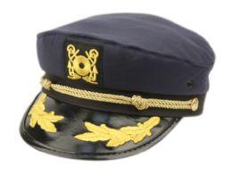12 Bulk FASHION CAPTAIN HATS IN NAVY