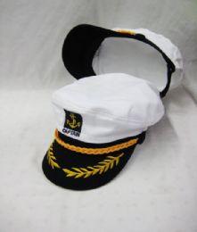 24 Bulk Adult Yacht Boat Ship Sailor Captain Hat Cap Navy Marine Admiral