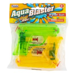 "96 Bulk 4.25"" Aqua Blaster Water Guns 2 Piece Set"