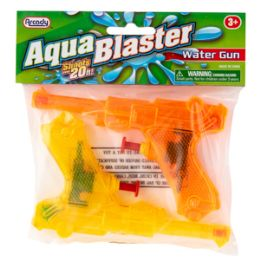 "96 Bulk 5.25"" Aqua Blaster Water Guns 2 Piece Set"