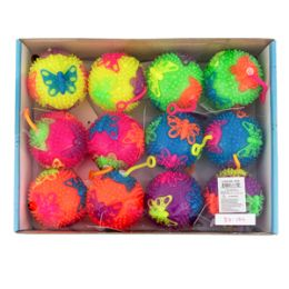 "144 Bulk 3"" Light Up Butterfly Yo Yo Ball"